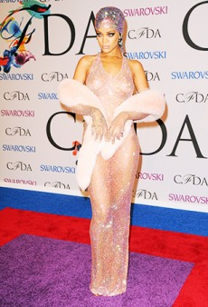 Watch: Rihanna Twerks Backstage at the CFDA Awards Wearing That Sheer Naked Dress