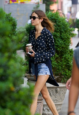Alexa Chung spotted in the East Village