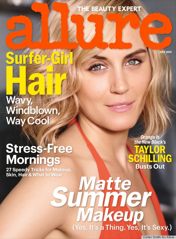 Allure July 2014 Taylor Schilling Carter Smith
