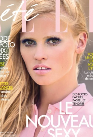 elle-france-june-27-2014-lara-stone-hans-feurer-portrait