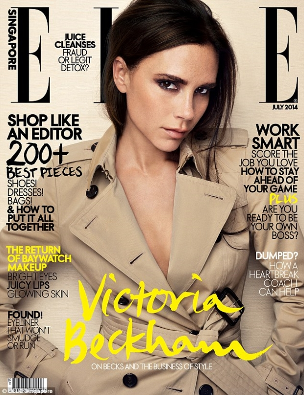 Elle Singapore July 2014 Victoria Beckham