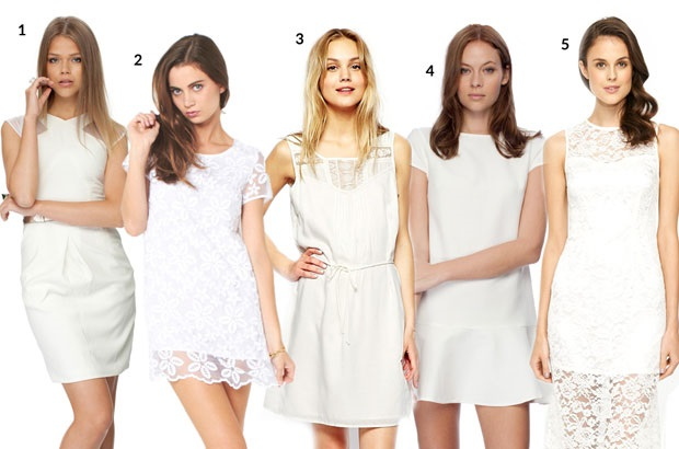 models white dress get the look