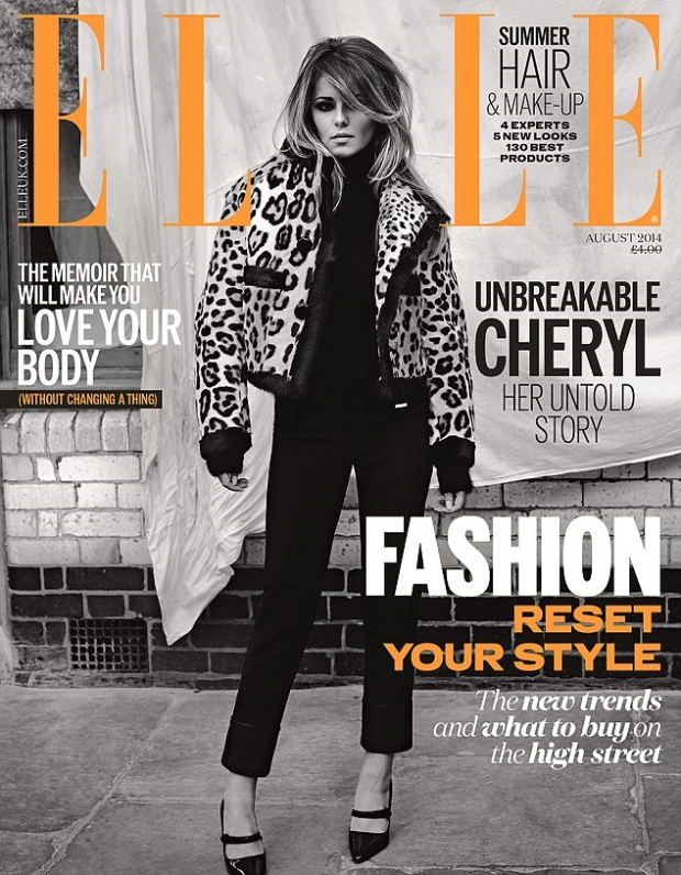 UK Elle August 2014 Cheryl Cole Ben Morris