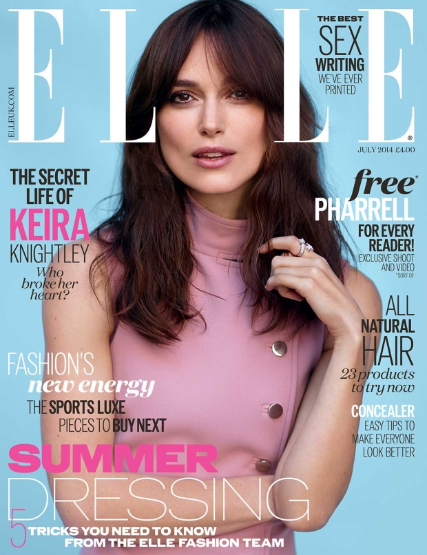 UK Elle July 2014 Keira Knightley