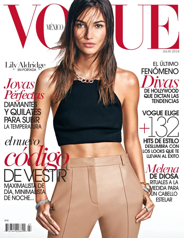 Vogue Mexico July 2014 Lily Aldridge James Macari