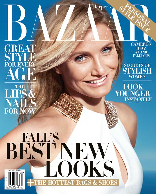 Harper's Bazaar August 2014 w Cameron Diaz