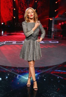 Get the Look: Kylie Minogue's Metallic Mini Dress