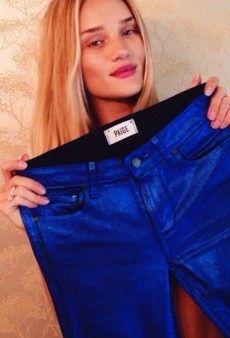 Rosie Huntington-Whiteley May Be Trying Her Hand at Denim Design