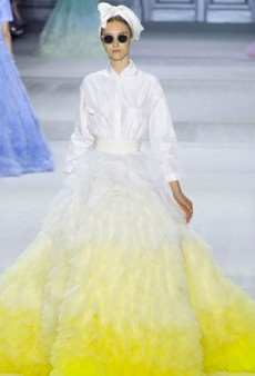 Flower Power Blossoms at Giambattista Valli Fall 2014 Haute Couture
