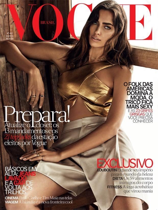 Vogue Brazil August 2014 Irina Shayk Giampaolo Sgura