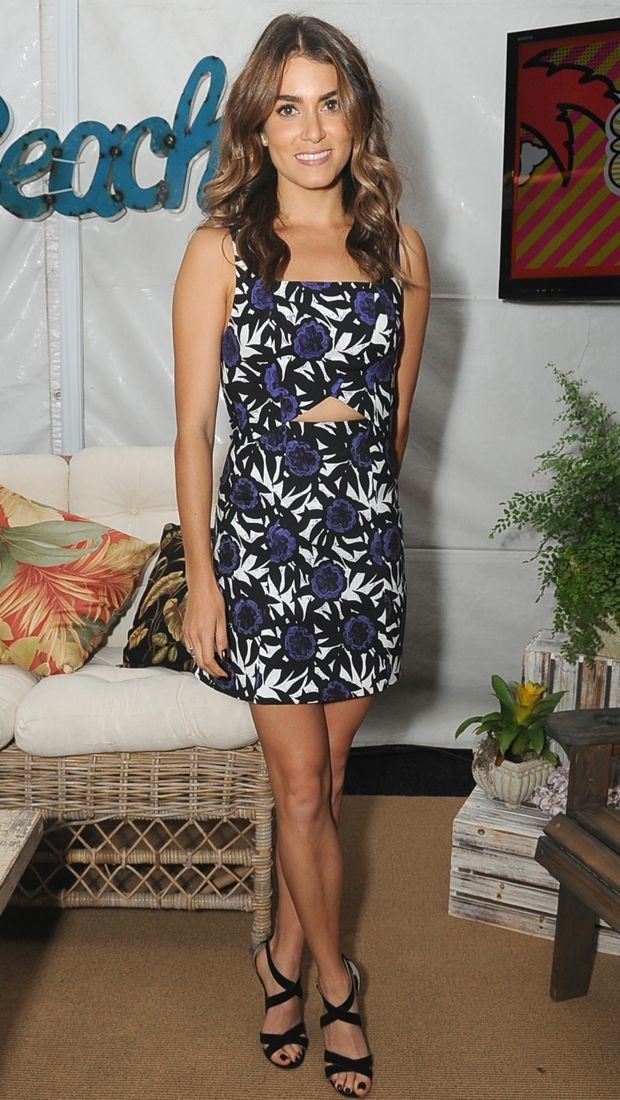 Nikki Reed hangs out backstage at the Teen Choice Awards in Rebecca Minkoff