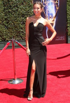 Renee Bargh Sports Aussie Designer Bariano at the Creative Arts Emmy Awards