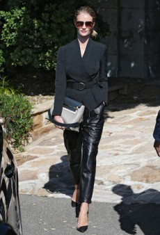 Rosie Huntington-Whiteley Steps Out in an All-Black Ensemble by Lover