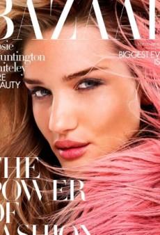 Rosie Huntington-Whiteley's UK Harper's Bazaar Cover 'Looks Like Some Lipstick Ad' (Forum Buzz)
