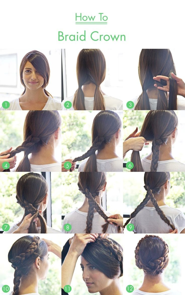 Braid Hair Tutorials For Long Hair Braid-crown-tutorial-for-long