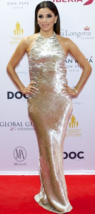 Eva Longoria in Reem Acra at the Global Gift Gala