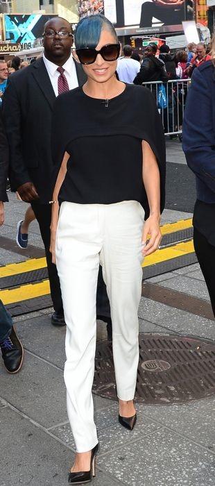 Nicole taping an appearance on GMA in Balenciaga