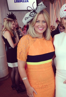 Samantha Armytage Wore a Newspaper on Her Head for Myer's Spring Fashion Lunch