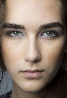 Backstage at NYFW: Glinty Blue Eyes at Tess Giberson