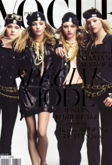 Flashback: Vogue Paris September 2006 with Jessica, Snejana, Sasha and Gemma