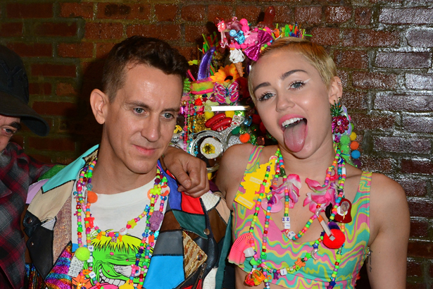 Jeremy Scott and Miley Cyrus