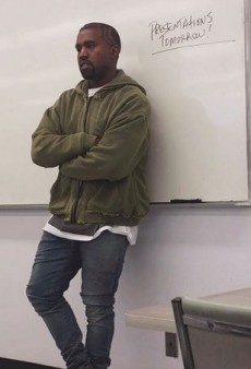 Here's What Kanye West Looks Like Teaching College Kids