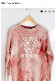 Urban Outfitters Pulls Offensive Blood-Splattered Vintage Kent State Sweatshirt
