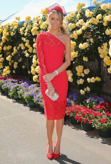 Get the Look: Jennifer Hawkins' Red-on-Red Race Wear