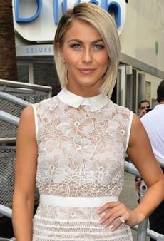 Julianne Hough Champions Samsung in a Sheer Self-Portrait Dress