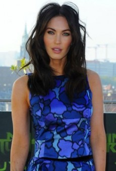 Megan Fox Strikes a Pose in Blue Patterned Marc Jacobs Separates