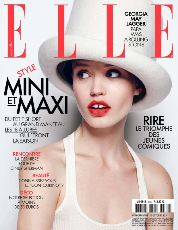 Elle France October 10, 2014 Georgia May Jagger