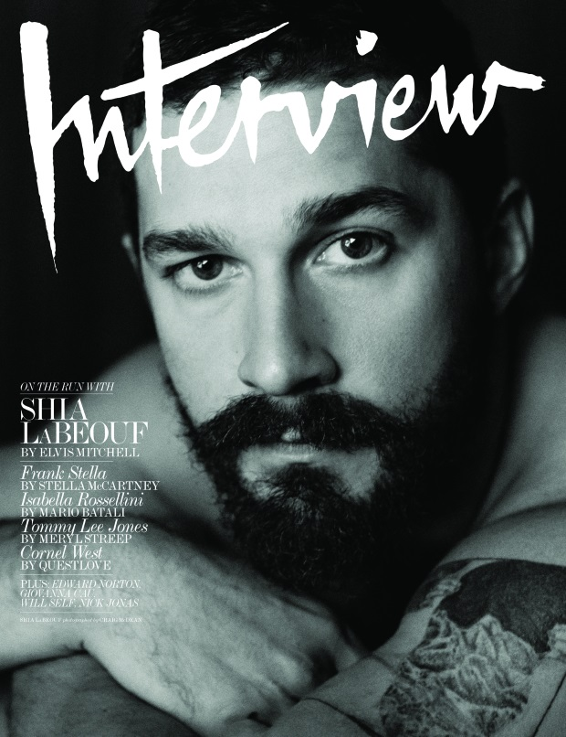 Interview Magazine November 2014 Shia LeBeouf