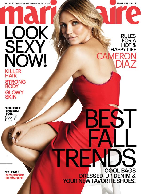 US Marie Claire November 2014 Cameron Diaz