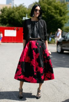 Delve Into Midi Skirt Heaven with These 30 Inspirational Street Style Looks