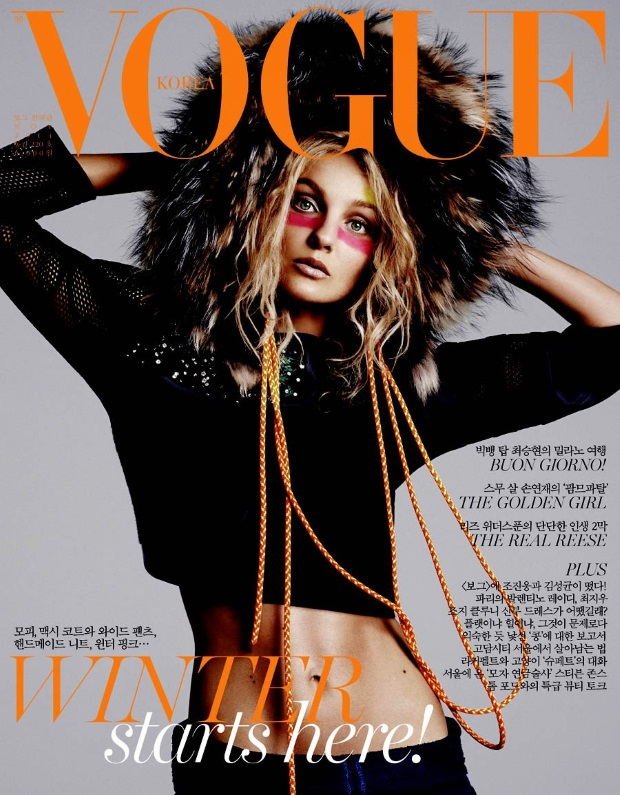 Vogue Korea November 2014 Caroline Trentini
