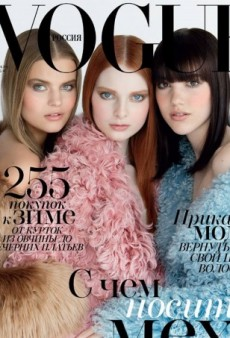 Patrick Demarchelier Photographs Fresh Faces for Vogue Russia's November Cover (Forum Buzz)
