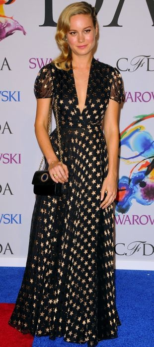 Brie Larson in DVF at the 2014 CFDA Fashion Awards