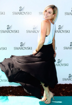 Everyone Tapped Their Girlie Side for Swarovski's Garden Party