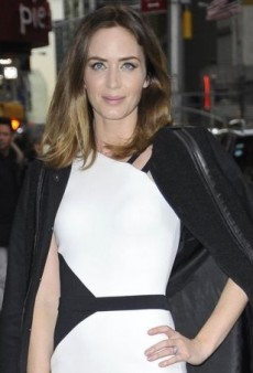 Emily Blunt Keeps It Black and White in David Koma