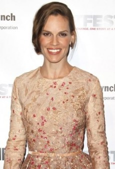 Hilary Swank Steps Out for the Outfest Legacy Awards in Elie Saab Couture