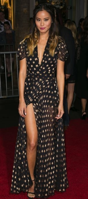 Jamie Chung in DVF at the Big Hero 6 Premiere