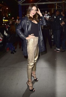 Miranda Kerr Goes for Gold in Elasticised Pants, Leaves Us Confused