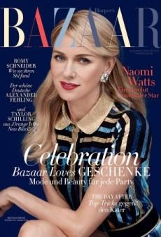 Naomi Watts Stars on Harper's Bazaar Germany's 'Stunning' December/January Cover (Forum Buzz)