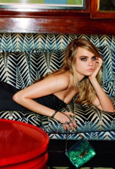 Cara Delevingne Sparkles in Topshop's Holiday Collection