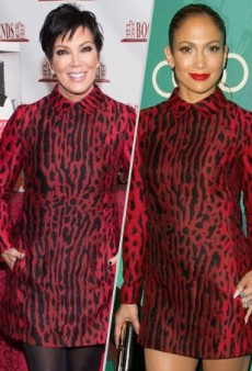 Style Showdown: Kris Jenner and Jennifer Lopez Go Wild in Valentino and More Matching Celebs