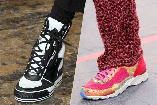 sneakers at DKNY and Chanel Fall 2014