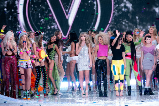 The model lineup for Victorias Secret fashion show 2013
