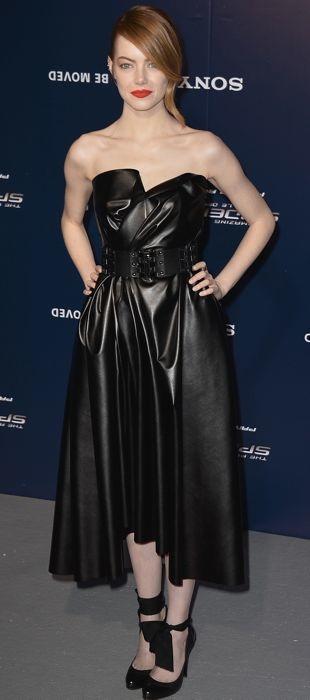 Emma Stone in Lanvin at Spider-Man Paris premiere