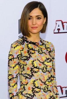 Rose Byrne Rolls Out 'Annie' in a Patterned Mary Katrantzou Dress