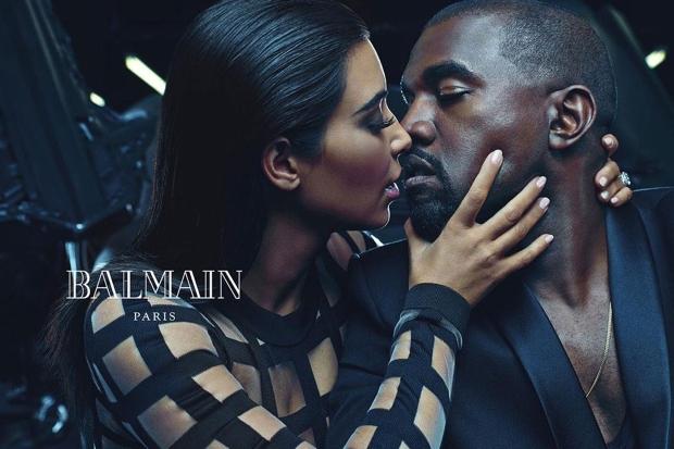 Balmain Menswear Spring 2015 Kim & Kanye